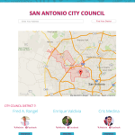 Mapping an address to a city council district.